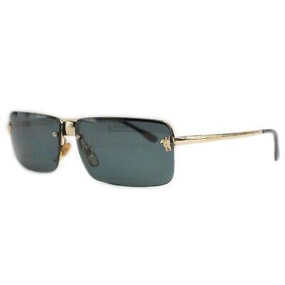 Vintage Gianni Versace MOD X66 Gold Sunglasses Medusa Logo Frameless