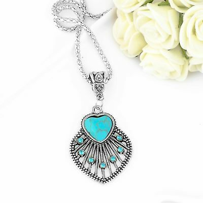 Wholesale Cheap Fashion Hollow Heart Shape Turquoise Necklace Pendant Chain](Cheap Necklaces)