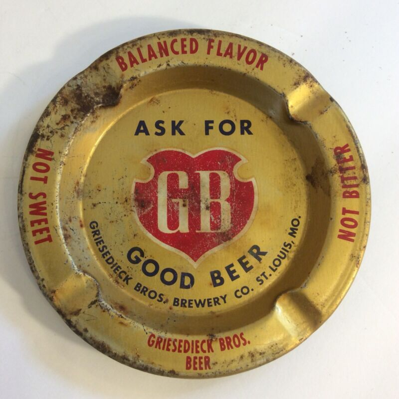 Vtg GB St. Louis Griesedieck Bros. Beer Advertising Ashtray Vintage