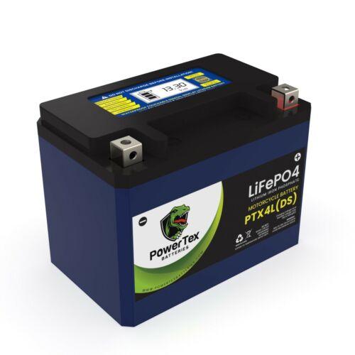 PowerTex Batteries PTX4L Lithium LiFePO4 Motorcycle High Performance YTX4L