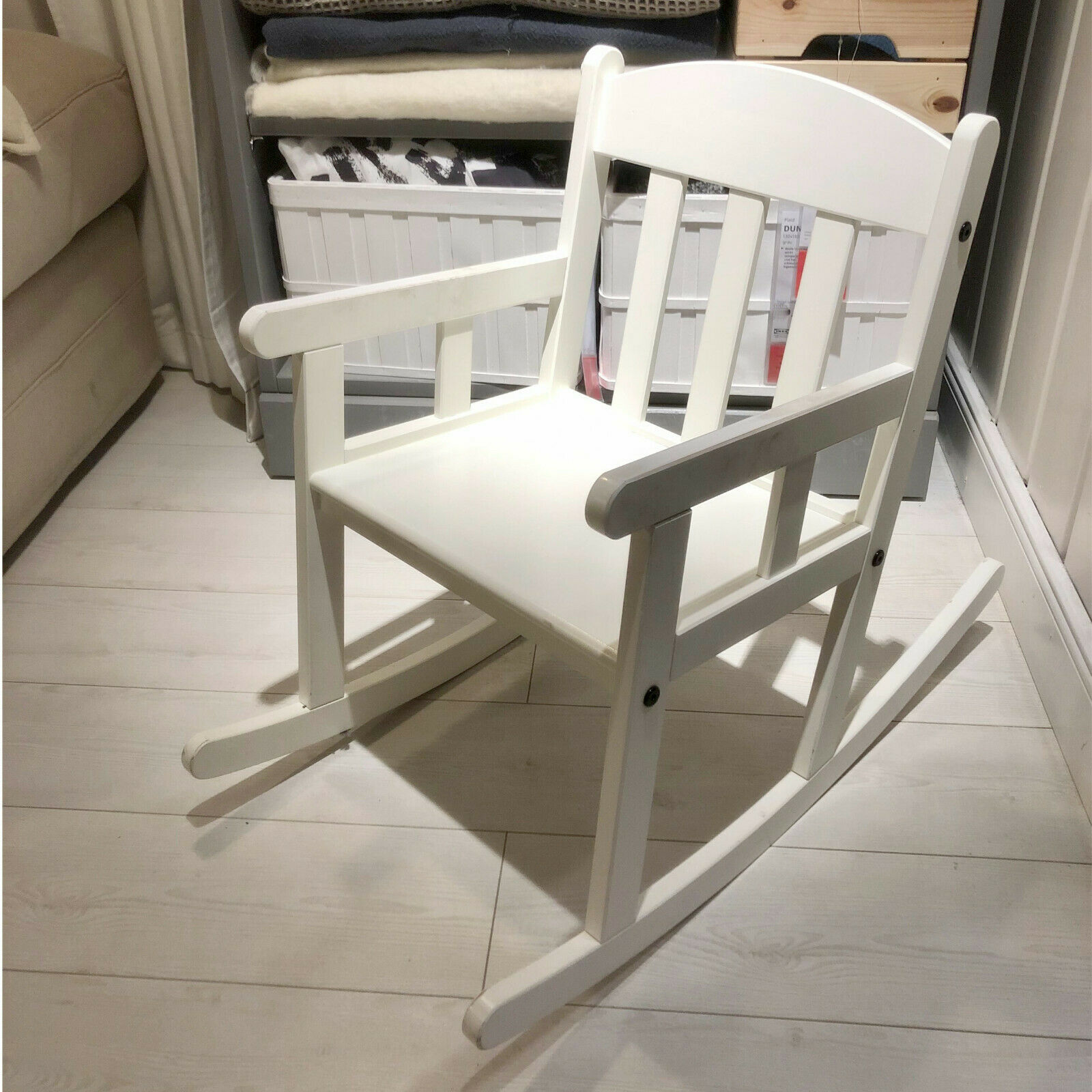 IKEA Kinder Schaukelstuhl in weiß aus Massivholz Wippstuhl Kinderstuhl NEU & OVP