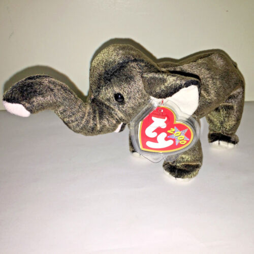 "2000 TY Plush Beanie Baby ""Trumpet"" The Cuddly Elephant w/Tags"