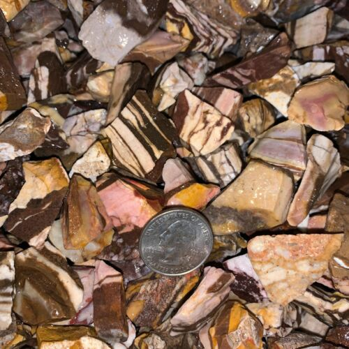1000 Carat Lots of (SMALL) Zebra Jasper Rough+ a FREE faceted Gemstone-Very Nice