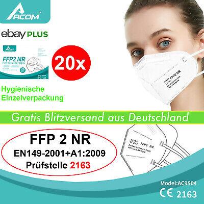 20x medizinische FFP2 Atemschutz Maske Mundschutz CE2163 Zertifikat Schutzmaske