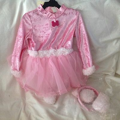 Halloween Child PINK Lil Puppy Toddler Costume Fits 1-2 Years Old  (1 Year Old Girl Halloween Costume)