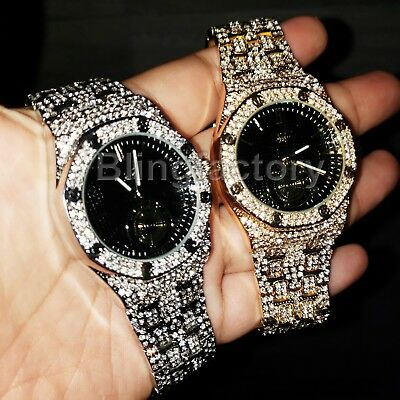 Luxury MIGOS Iced out Rapper's Lab Diamond Metal Band Dress Clubbing wrist Watch