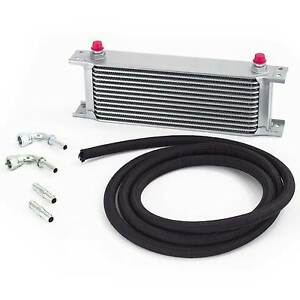Universal Automatic Transmission/Gearbox Oil Cooler Kit - 235mm 10 Row 12mm Hose