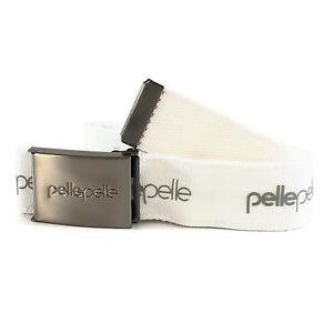 Pelle-Pelle-Core-Ejercito-Cinturon-Con-Metal-hebilla-color-blanco-92609