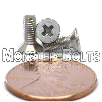 M3 x 10mm Stainless Steel Phillips Flat Head Machine Screws, Countersunk DIN 965