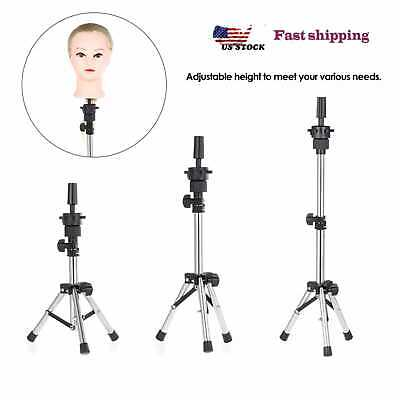 Mannequin Head Tripod Hairdresser Training False Head Stand Hair Wig Mold Holder