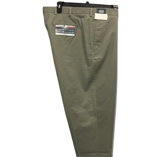 Roundtree & Yorke Travel Smart Ultimate Comfort Classic Fit Pants 46×32 Olive Clothing, Shoes & Accessories