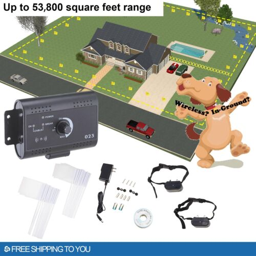in ground electric dog pet fence system