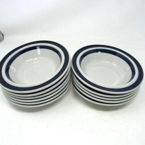 "Vintage ARABIA Finland Blue 6 7/8"" Blue Stripe Small Soup Bowl"