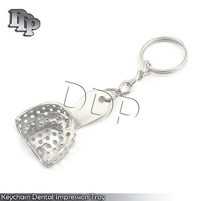 Keychain Dental Perforated Impression Tray Dentist Gift Instruments