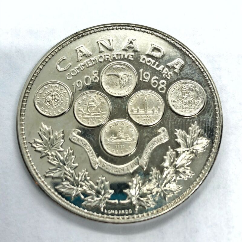 1908-1968 RCM Canada Commemorative Dollar Token Proof Coin Medal Mint Old
