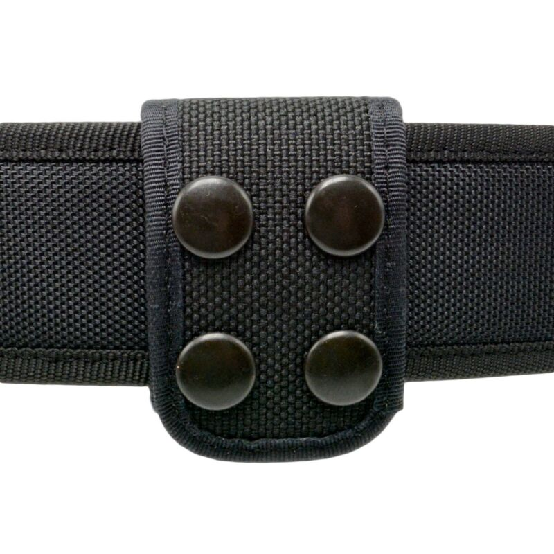 Perfect Fit Nylon Ballistic Double Wide Police Belt Keeper Black Snaps Security