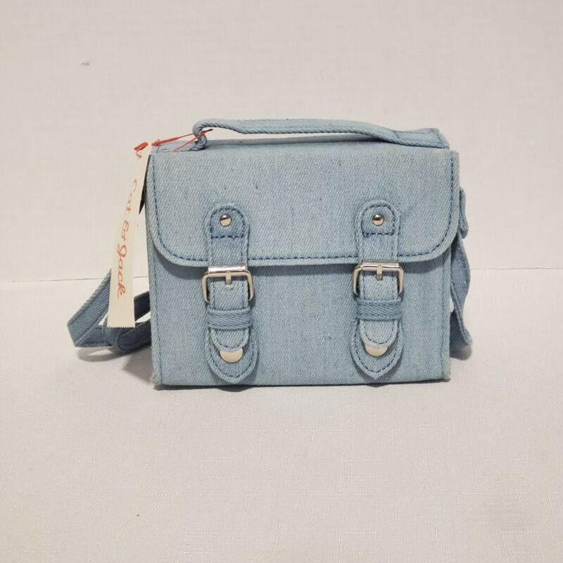Cat & Jack Girls Blue Jean Cross Body Purse, New with Tags