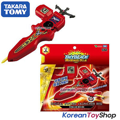 Beyblade Burst B-94 Digital Sword Launcher RED with Sword Winder Takara Tomy