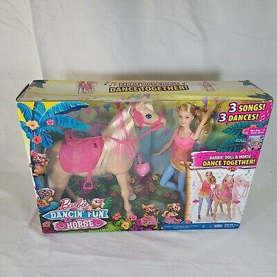 Barbie Doll and Her Dancing DANCIN FUN HORSE Set 3 Fun Songs New in damage box
