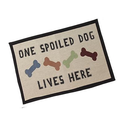 """PetRageous One Spoiled Dog Tapestry Mat Feeder, Large/28"""" x 18"""" Free Shipping"""