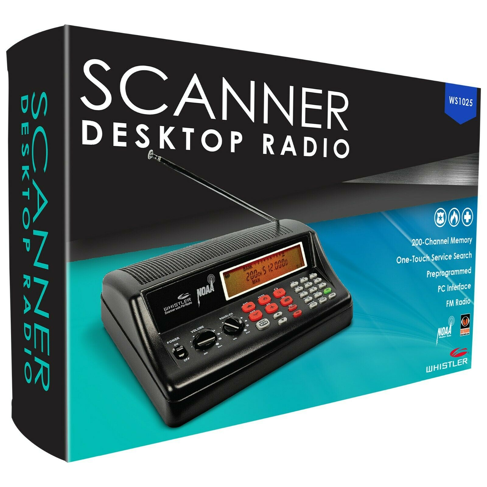 Whistler WS1025 Analog Desktop Scanner  NEW
