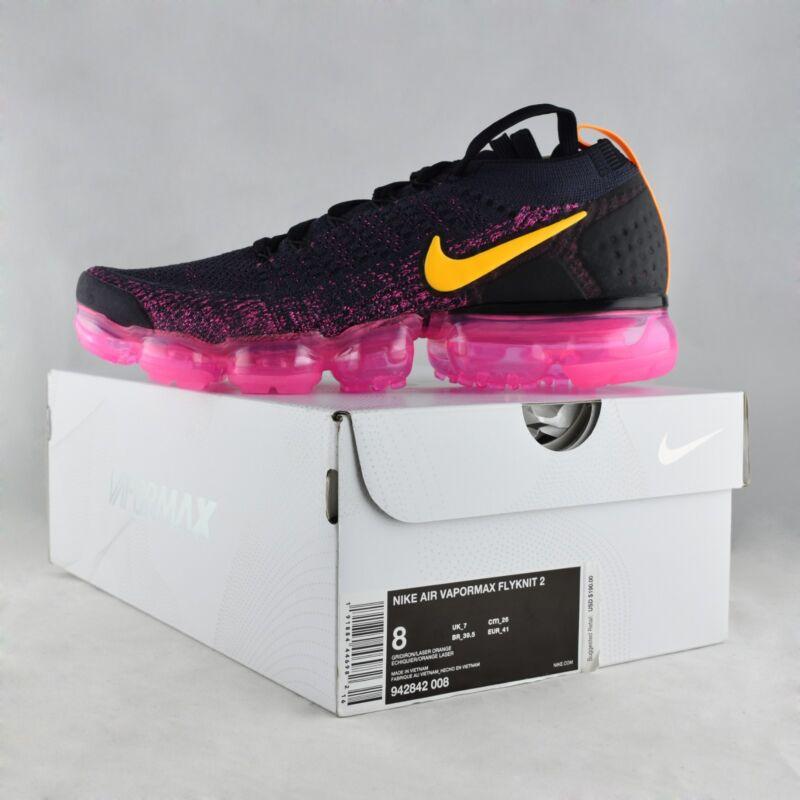 36923b48d820 Nike Air Vapormax Flyknit 2 Gridiron   Laser Orange Men Running Shoes 942842 -008