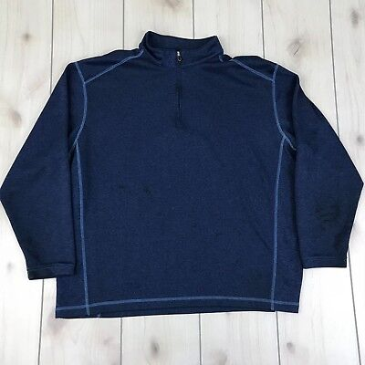 Pebble Beach Mens XXL Performance Sweater Pullover Poly Collar Zip - Stained ()