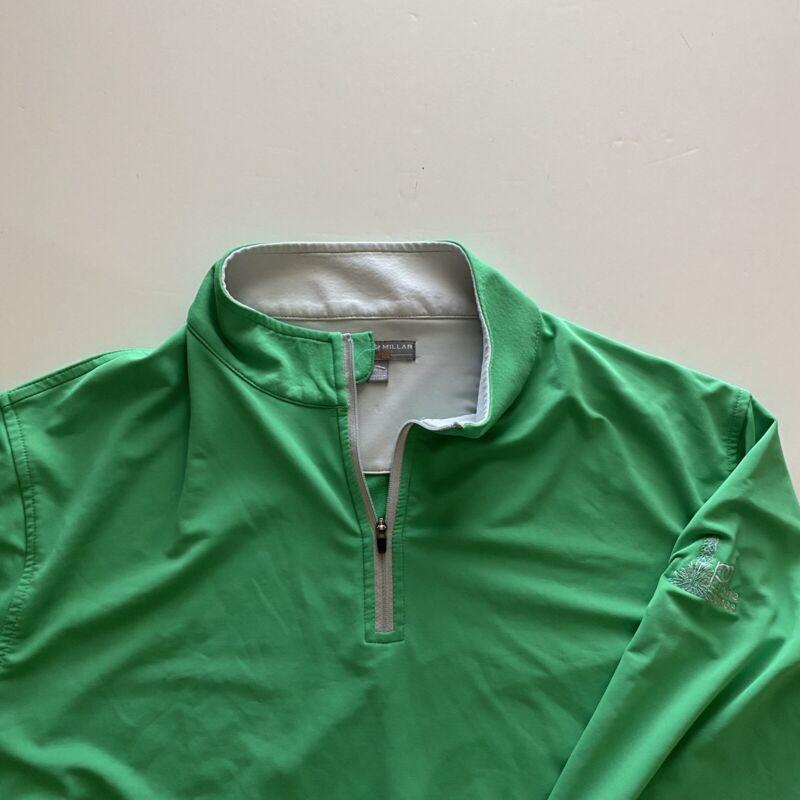 Peter Millar Wicking XL Green Mens Prairie Dunes 1/4 Zip Golf Pullover no flaws