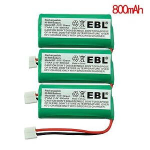 3pack Cordless Home Phone Battery for AT&T/Lucent BT184342 BT28433 BT18433 3101