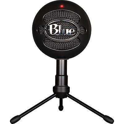 Blue Snowball iCe USB Condenser Cardioid Microphone with Tripod Stand - Black