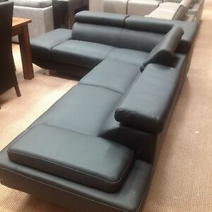 Denmark corner lounge in black or white Joondalup Joondalup Area Preview