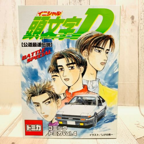 Tomy Initial D Comic Tomica Vol.4 AE86, FC3S, FD3S, BNR32, Sileighty,AE86(LEVIN)