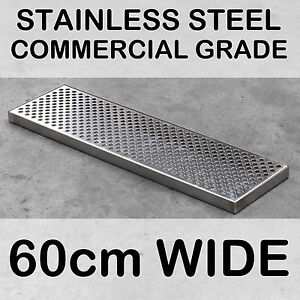 60cm Surface Mount Counter Top Drip Tray No Drain Stainless Steel Beer Kegerator