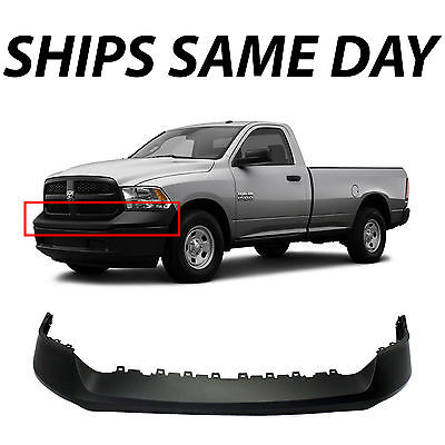 Truck Front Bumper - New Primered -- Front Bumper Top Cover Pad for 2013-2018 Ram 1500 Pickup Truck