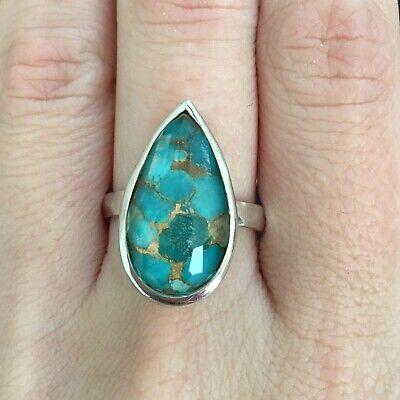 IPPOLITA Rock Candy Bronze Turquoise Large Pear Teardrop Quartz Silver Sz 7 $550