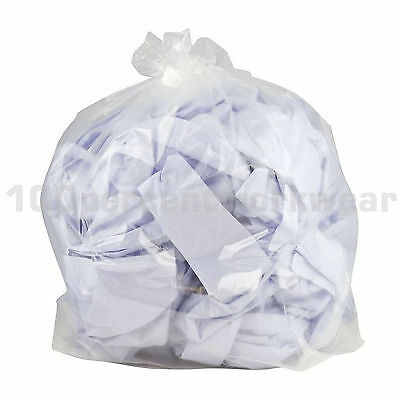200 x Clear Refuse Sacks Bin Bags Industrial Business Household Waste 18x29 x 39