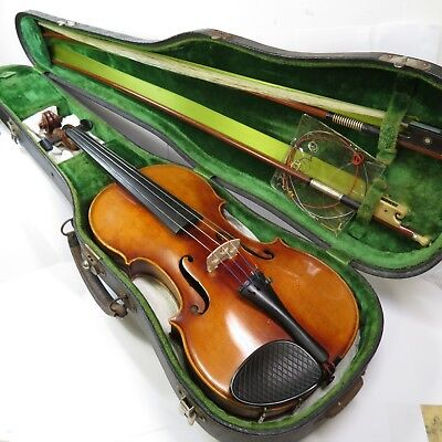 c1920 Model 17 Signed John Juzek Violin Prague Czechoslovakia 4/4 Wilhem Bow
