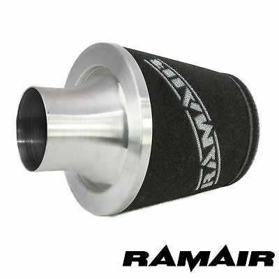 Ramair Universal Air Filter 70Mm Od Neck Aluminium Intake Silver