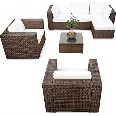 23tlg Polyrattan ECK Lounge Möbel Set XXXL
