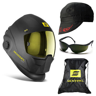 Esab Sentinel A50 Automatic Welding Helmet 5.0 Glasses Revco Cap Bc5w-bk