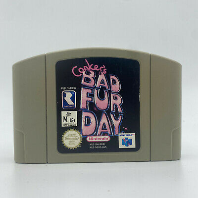 Conker's Bad Fur Day * Genuine * (Nintendo 64) PAL N64 Fast Shipping Conkers