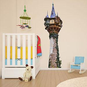 tangled tower rapunzel kids girls bedroom colour vinyl decal wall