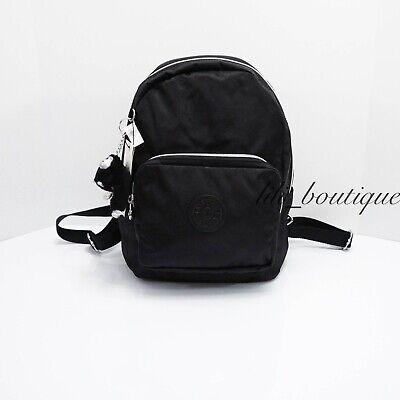 NWT New Kipling KI0557 Malcom Small Backpack Shoulder Bag Polyamide Black $114