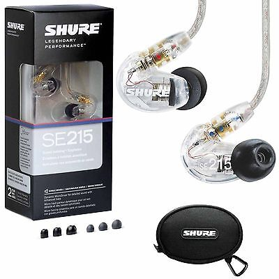Shure SE215-CL Sound-Isolating In-Ear Stereo Earphones (Clear)