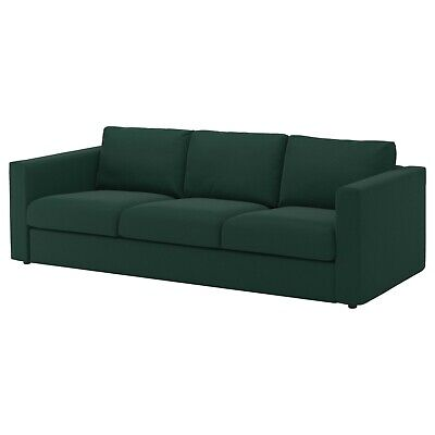 IKEA VIMLE Cover set for 3 seat sofa with armrests ,Gunnared Dark Green