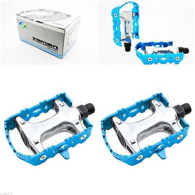 Pedales Clasicos de Aluminio Eje CR-MO para Bicicleta BTT MTB Carretera 3180azul