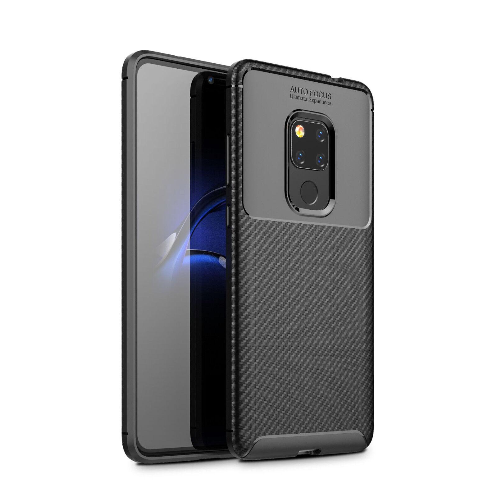 Handy Hülle für Huawei Mate 20 Karbondesign Case Schale TPU dünn schwarz Mate20