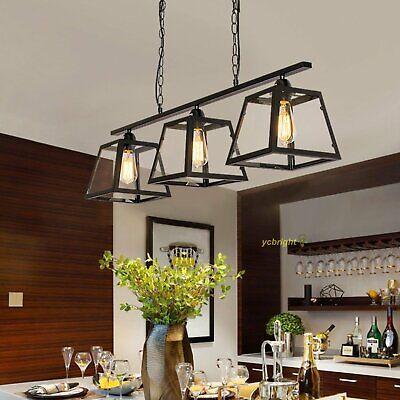 3 Lights Pendant Chandelier Kitchen Island Lighting Dining Room Linear Fixtures