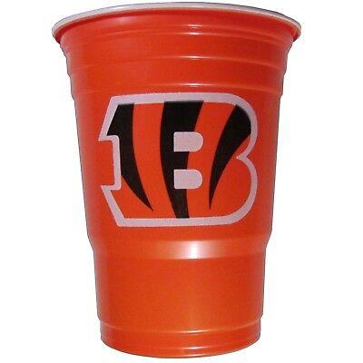 Cincinnati Bengals Party Supplies (CINCINNATI BENGALS PLASTIC GAMEDAY CUPS 18OZ 18CT SOLO TAILGATE PARTY SUPPLIES)