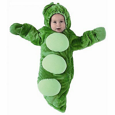 NWT NEW SWEET PEA POD COSTUME PLUSH INFANT Newborn Boys Girls 0-6 - Sweet Pea Costume Baby